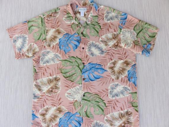 f47602ccb Hawaiian Shirt Men BISHOP ST. Apparel Tropical Aloha Shirt Pen | Etsy