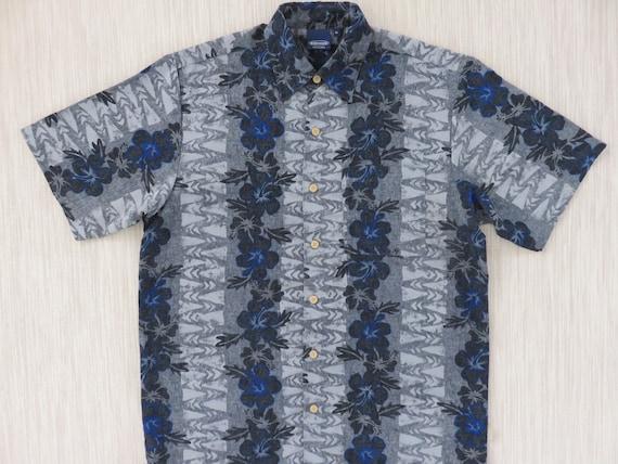 2e45d99c Hawaiian Shirt SIDEOUT Surfer Aloha Shirt Hibiscus Flower | Etsy