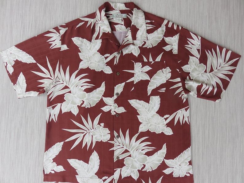c4bc64e4 TOMMY BAHAMA Shirt Hawaiian Aloha Shirt Tropical Palm Mod | Etsy