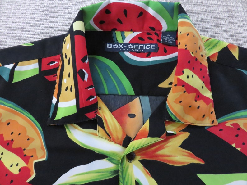72e4d7c3 Hawaiian Shirt Men BOX OFFICE ISLAND Watermelon Shirt Party   Etsy