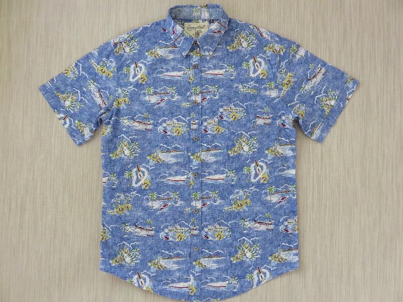 e4c2ff7d Hawaiian Shirt COASTAL California Surfer Shirt Ukulele Beach | Etsy