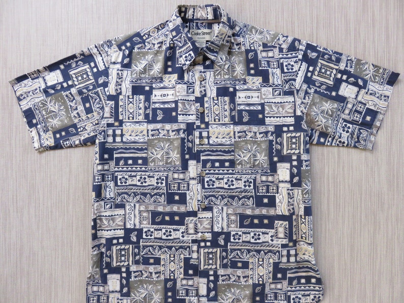 40f8863d Hawaiian Shirt Men COOKE STREET Aloha Shirt Surfer Mosaic | Etsy