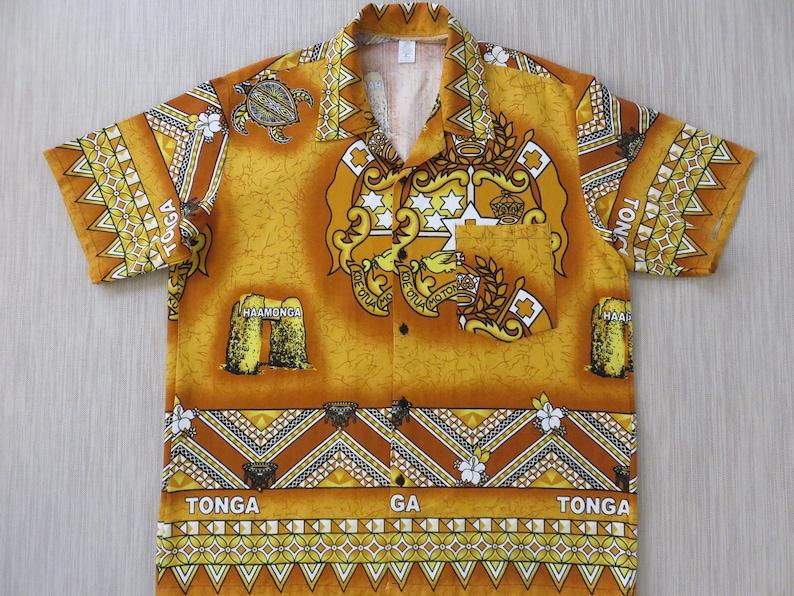 5a00be17 Hawaiian Shirt Tongan Shirt Tonga National Coat of Arms | Etsy