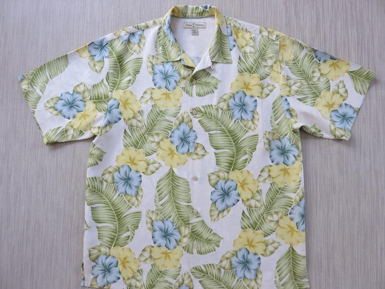 0f35b3cd TOMMY BAHAMA Shirt 100% Silk Hawaiian Shirt Copyrighted | Etsy