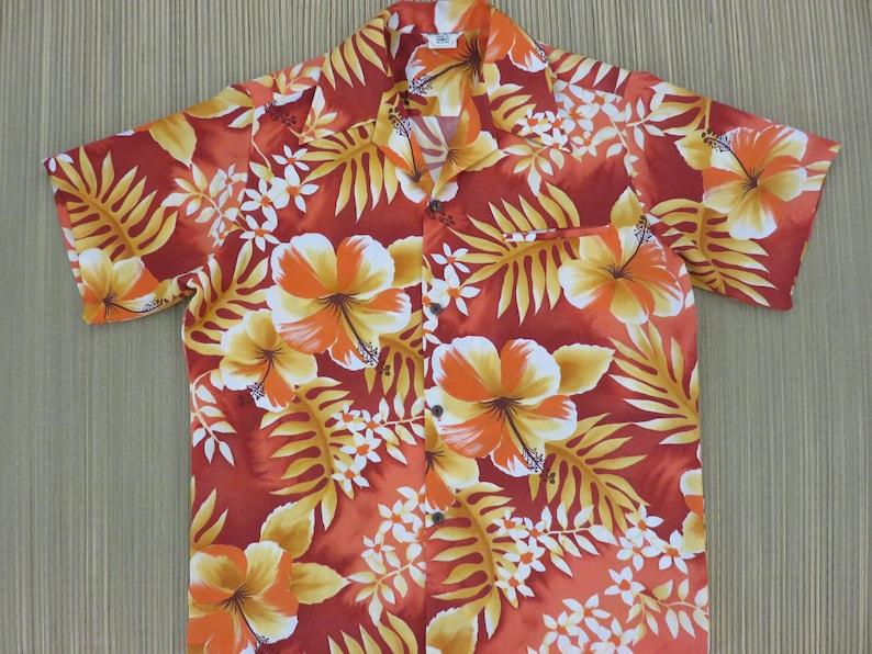 14a65575 Vintage Hawaiian Shirt ISLAND FASHIONS 70s Mens Aloha Shirt | Etsy