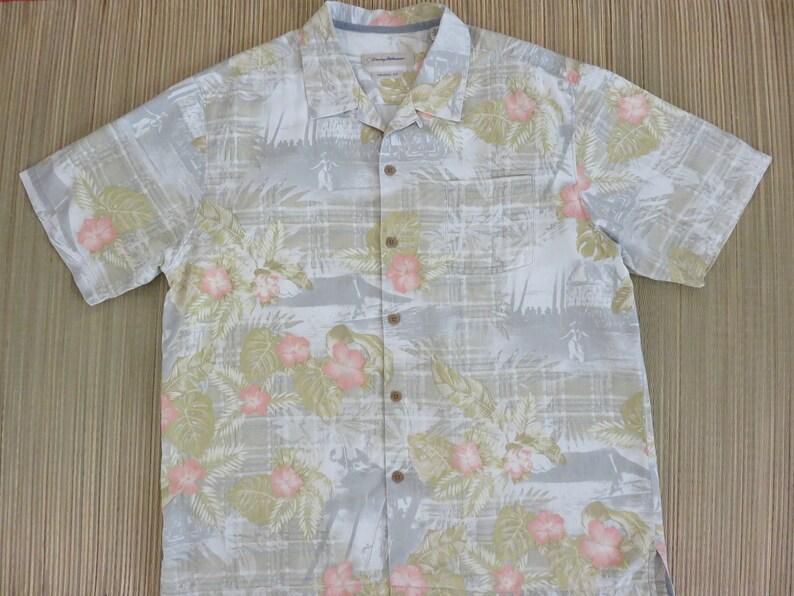 ed61560cc TOMMY BAHAMA Shirt Life in Hawaii Hula Girl Headstand Surfer | Etsy
