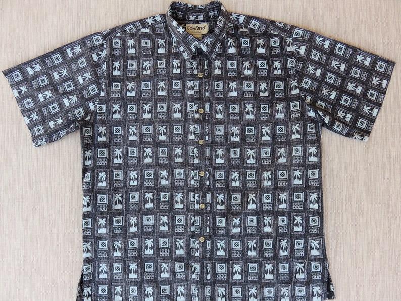 0df4156c Mens Hawaiian Shirt COOKE STREET Black Aloha Shirt Tropical | Etsy