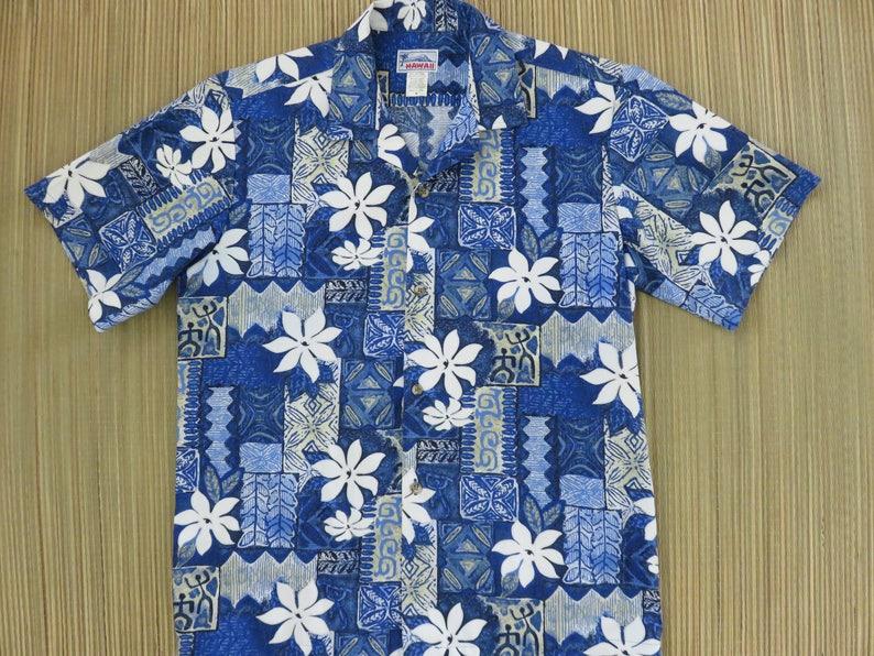 02f52285 Hawaiian Shirt Men HAWAII Brand Aloha Shirt Tropical Tribal | Etsy