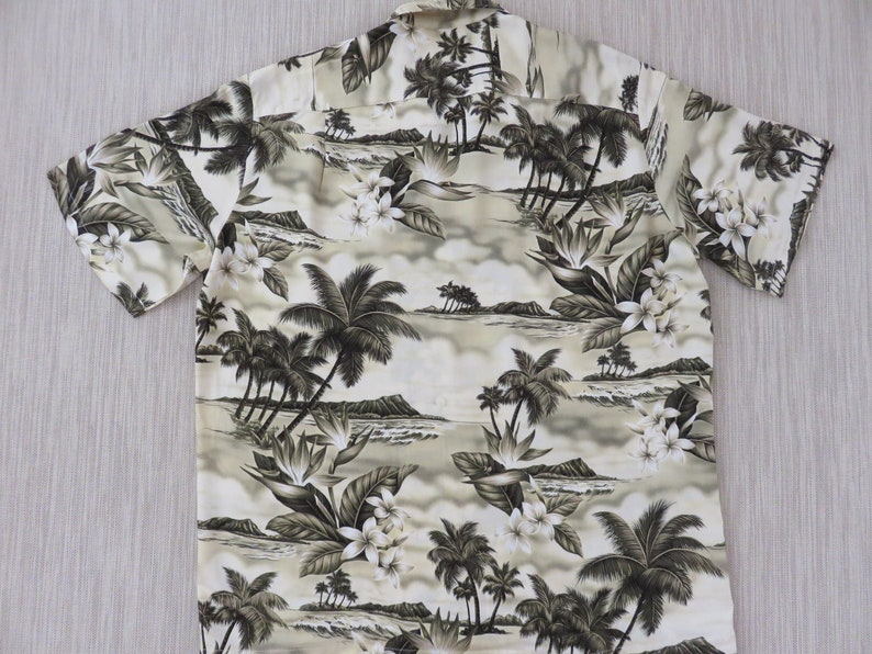8d83ab370 Hawaiian Shirt Men HAWAIIAN RESERVE COLLECTION Sepia Toned | Etsy