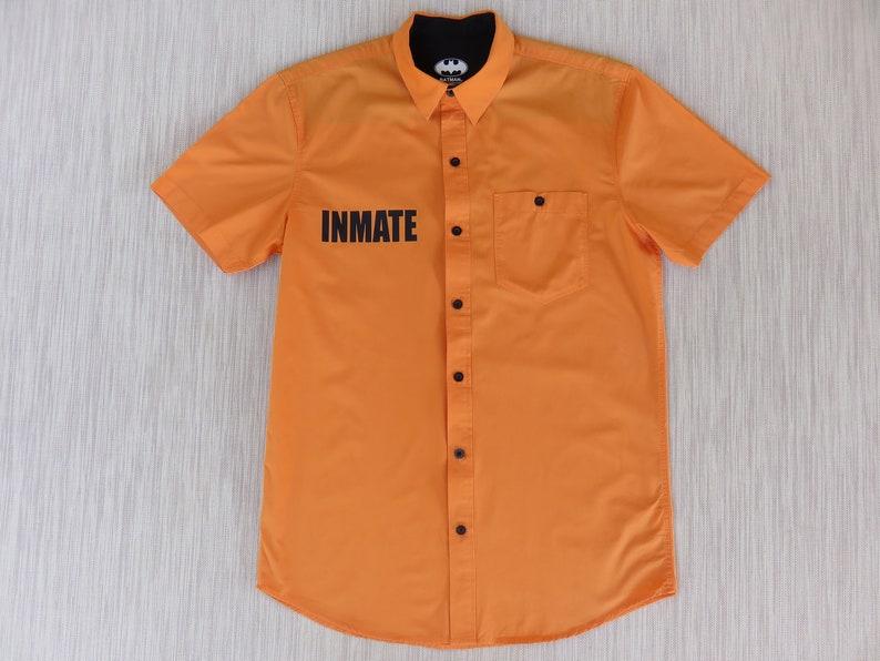 2f8414c90 BATMAN Arkham Asylum Inmate Shirt Trademarked DC Comics | Etsy