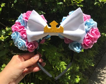 Disney Sleeping Beauty Princess Aurora Floral Rose Minnie Ears