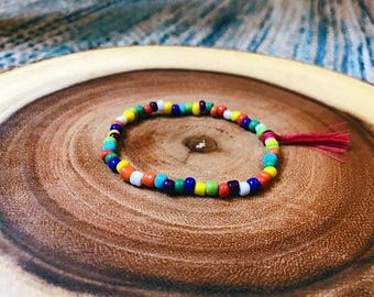 Rainbow Amina Beaded Bracelet