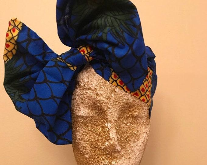 Pineapple Kuchena Half Head Wrap