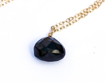 Black onyx pendant etsy gifts for her black onyx necklace black onyx pendant 14k gold filled sterling silver 14k rose gold gifts for her gifts for her aloadofball