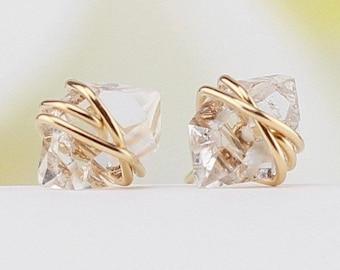 Herkimer Diamond Earrings Studs, Herkimer Diamond Studs, Diamond, Stud Earrings, Herkimer Earrings, Herkimer Studs, Gift For Her