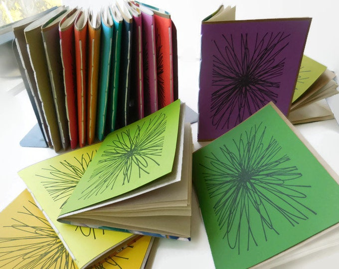 Featured listing image: Recycled Stationary 3 Pack | FLOWERBURST Recycled Notebook | Recycled Paper Small Notebook | Handmade Unlined Notebook | Blank Notebook |