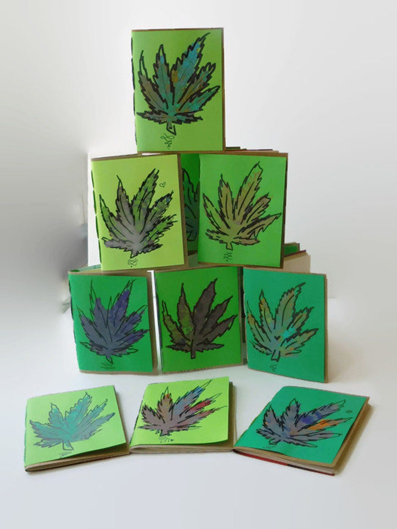 Cannabis Leaf Notebook Cannabis Weed Tasting Journal image 0