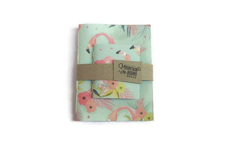 1 recycled notebook FLORIDA FLAMINGO design Zero Waste image 0