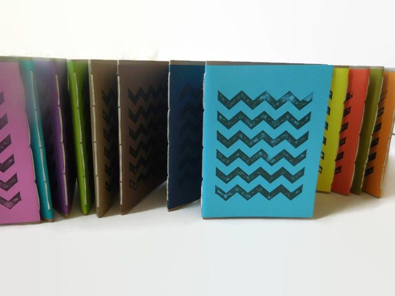 Eco Friendly Chevron Print Journal Go Green Doodling Pads image 0