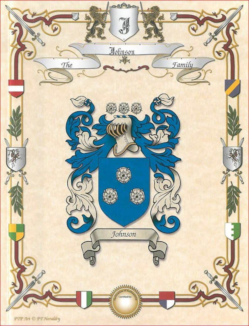 Single Family Coat of Arms