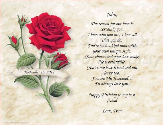 Red Rose Happy Birthday To My Best Friend Art Id Rrose 01 Etsy