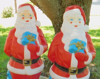33 vintage empire santa claus blow mold working lighted christmas outdoor yard front porch patio seasonal decoration st nick nicholas - Vintage Outdoor Christmas Decorations