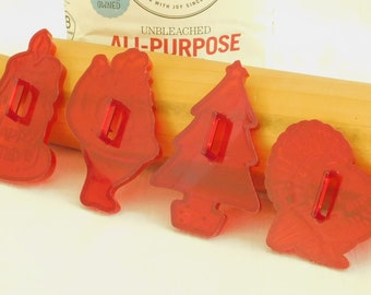 Rare HRM Blue Plastic Cookie CutterHolly and Berries HRM Cookie CutterBlue Plastic HRM Cookie Cutter