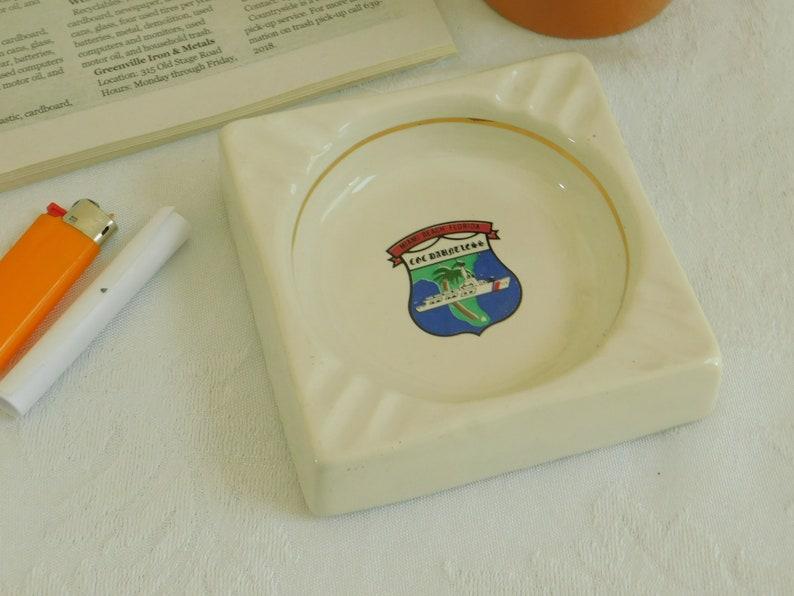 WMEC Advertising Memorabilia, Vintage US Coast Guard Cutter Dauntless 624 Ashtray Commemorative