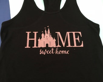 Home Sweet Home Rose Gold Tee/tank/racerback