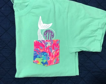 Lilly and Disney Character Pocket tees