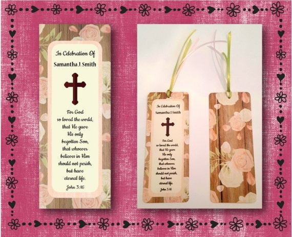 Funeral Light Blue Wood w Ivory Roses -With Matching Ribbon FREE SHIPPING Memorial 16 Personalized /& Printed Bookmarks #4 grey frame