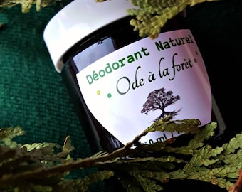 Natural cream deodorant with activated charcoal and schizandra oil