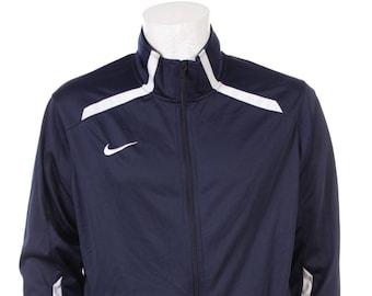 1d36bdccfdbe Vintage Nike Windbreaker jacket Navy Blue White Size L