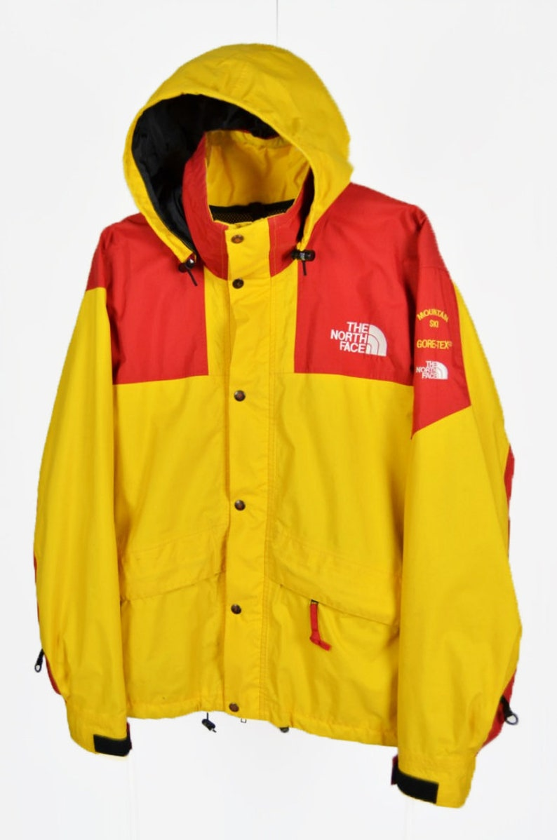 4ebab3dab ULTRA RARE The North Face Vintage 90s Mountain Ski Jacket Red Yellow  Supreme Size S