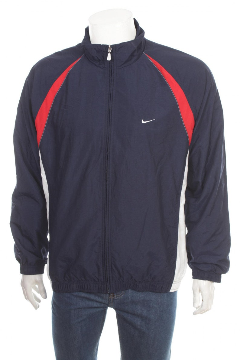 4fdeb080d2 Nike Windbreaker Jacket 90s Nylon Shell Zip Jacket Color Block