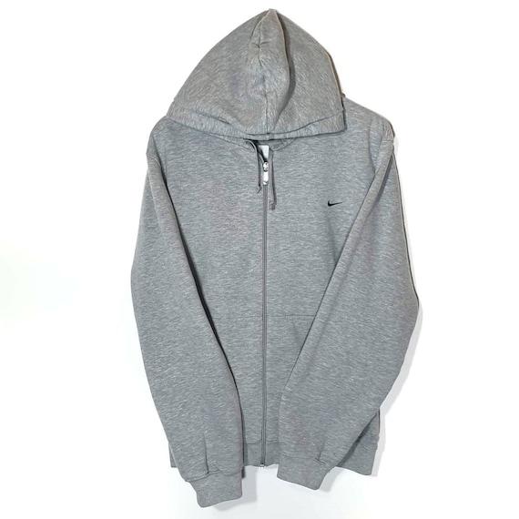 Vintage 90s Nike Small Swoosh Sweatshirt Hoodie Gr