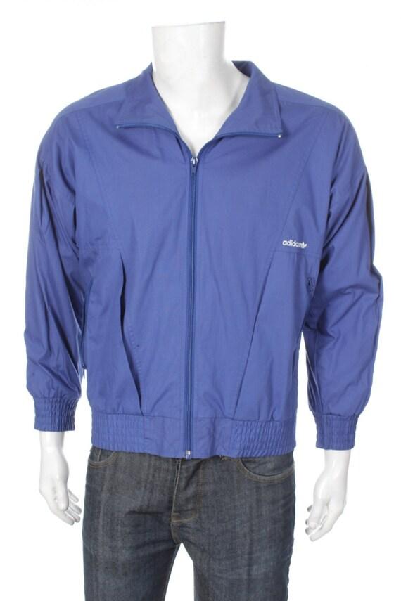 Adidas Jacke Kleeblatt blau Größe M Vintage 90er Jahre Tod   Etsy aa0428a7b8