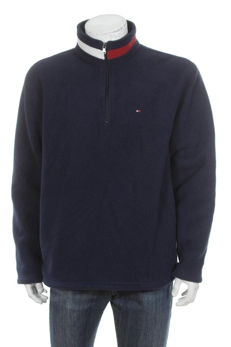 da871a9f Vintage 90S Tommy Hilfiger Half Zip Fleece Pullover JACKET | Etsy