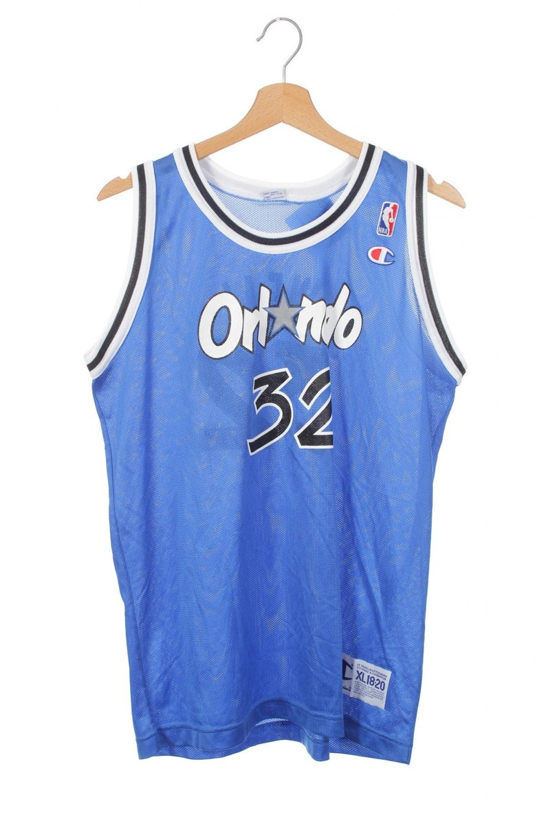 cd2842fba9c4d3 Vintage Champion Orlando Magic 32 Shaquille ONeal Basketball