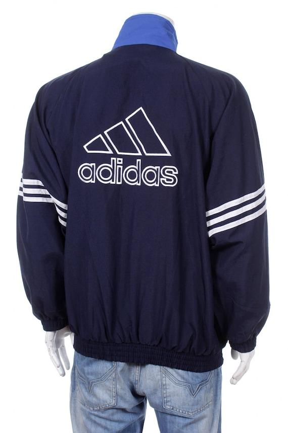 Vintage Adidas Windbreaker Tracksuit Top jacket Big logo
