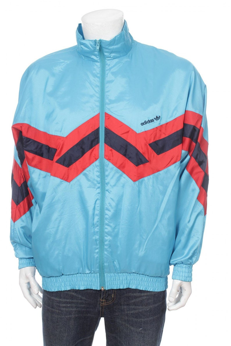 Adidas Trefoil windbreaker Cut and Saw Multicolor White Blue Red Size ML