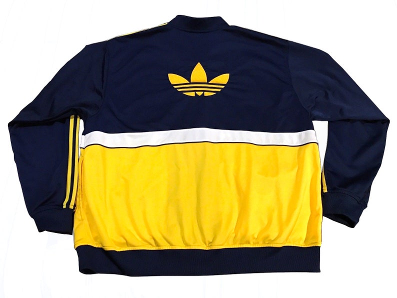 89ef1eff5074b Adidas Trefoil Track Top jacket Full Zip Retro Strippded Streetwear Hip Hop  Rap ... Adidas Trefoil Track Top jacket Full Zip Retro Strippded Streetwear  Hip ...