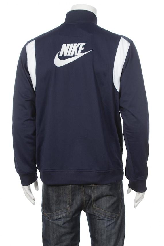 Veste Nike Track 90s Striped Zip Up Swoosh Retro Blue Jacket Athletic Streetwear Sports Jacket Large Blue Size L