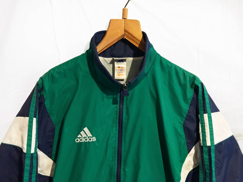 110e4dcd8053 Vintage Adidas Cut and Saw Windbreaker Tracksuit Top jacket