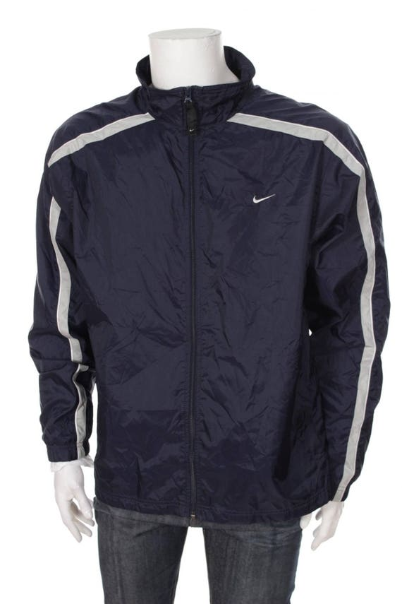 5f20df9472 Nike Windbreaker Jacket 90s Nylon Shell Zip Jacket Striped