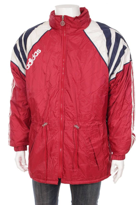 206ceb940818 Adidas jacket Cut and Saw Quilted Proof Hooded Jacket Big logo