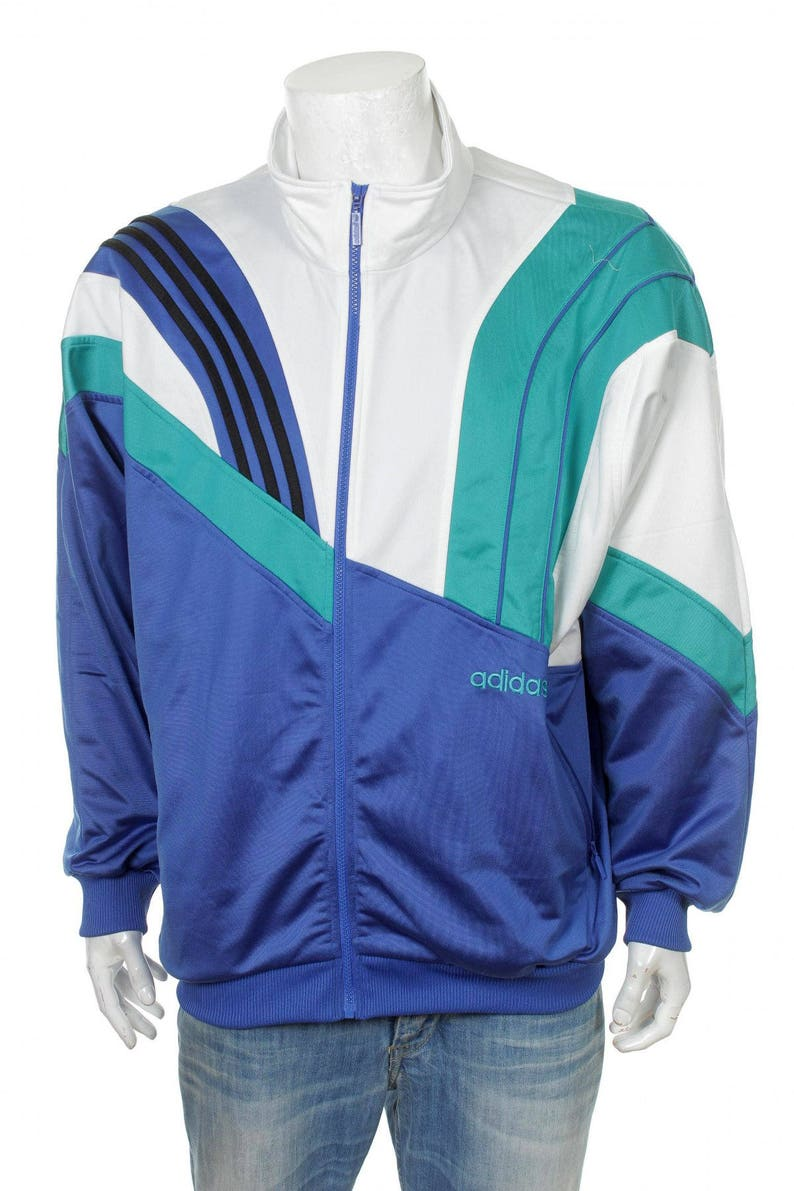 382734166acd Vintage 90s Adidas Track Top jacket Color Block