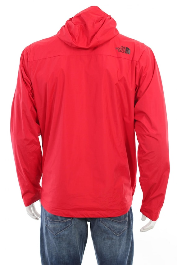 Vintage The North Face Anorak Pullover Proof Hooded jacket sz L Red Black