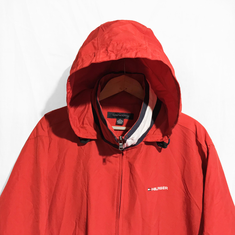 85de3c1e Tommy Hilfiger Windbreaker waterproof Hooded Jacket Color | Etsy