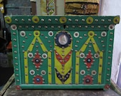 Vintage Turkish Anatolian Mini Chest for Dowry - Free Shipping